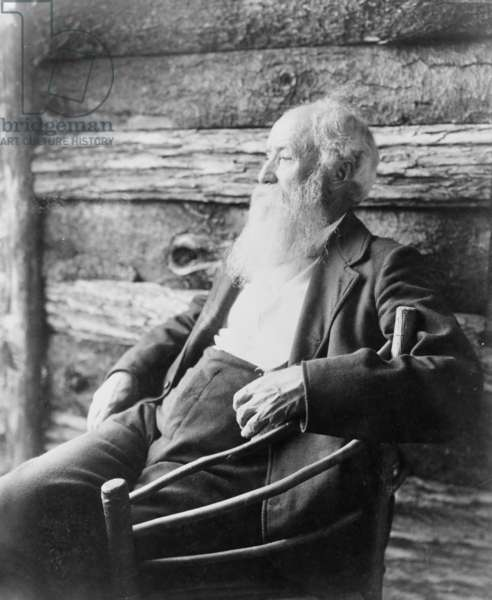 John Burroughs (1837-1921) wrote on nature subjects and inspired the early conservation movement. 1901 Portrait