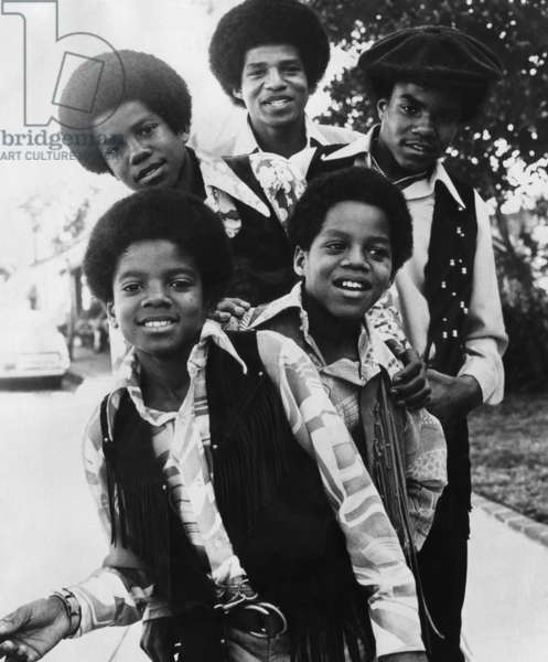 The Jackson Five: Michael, Marlon, Jermaine, Tito, Jackie, c. 1970s