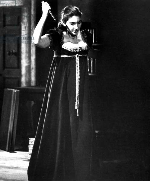 Maria Callas in 'Tosca', at the Royal Opera House in Covent Garden, London, 1964