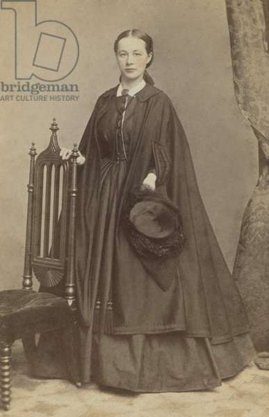Caroline Carrie Nichols Lacy was a Union Army nurse during the US Civil War. She married Lt. George W. Lacy, assistant superintendent of Freedmen's Camps, on April 1864. After the war, she worked with Freedmen at Camp Todd, Virginia. Photo by Henry Ulke, Washington, DC,