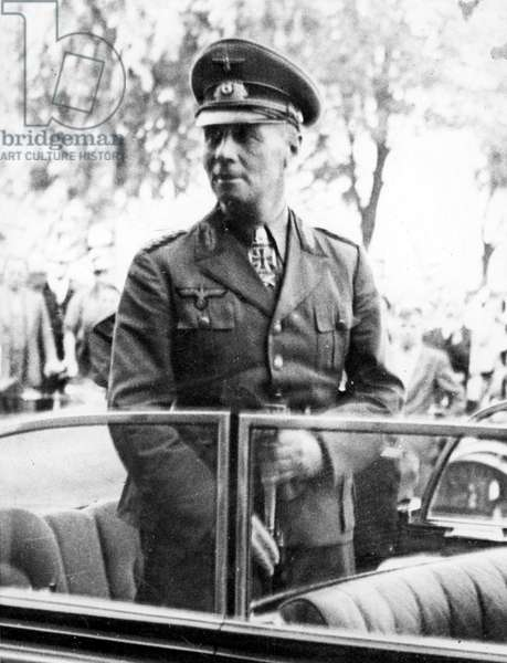 FIELD MARSHAL ERWIN ROMMEL reaches Italy, 1/31/44