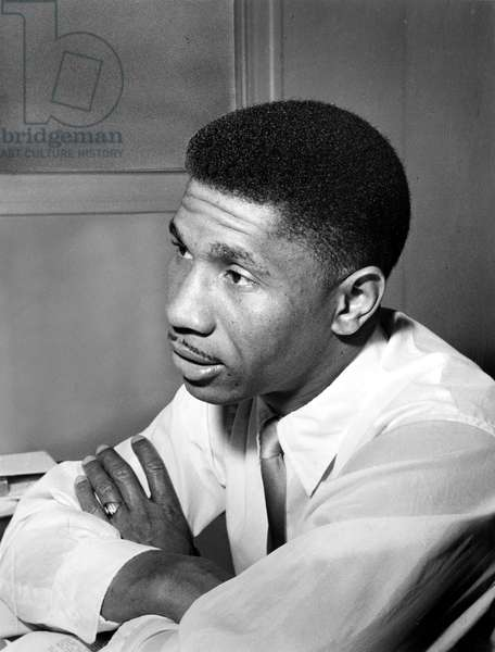Medgar Evers, Chief officer of NAACP, 1957 (b/w photo)