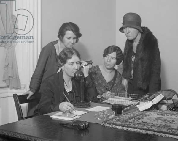 National Woman's Party telephoned the 1930 World Conference in the Hague. April 3, 1930.