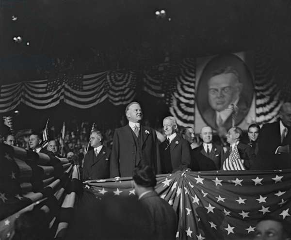 Republican Presidential Nominee Herbert Hoover in 1928