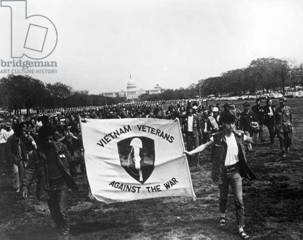 Vietnam War. Vietnam Veterans Against the War demonstrating on the National Mall, Washington DC, c.1970-1972