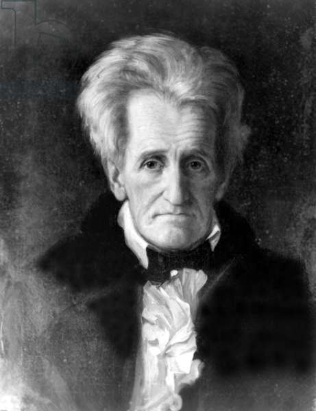 Andrew Jackson (1767-1845) 7th U.S. President, 1845 portrait by George Healy.