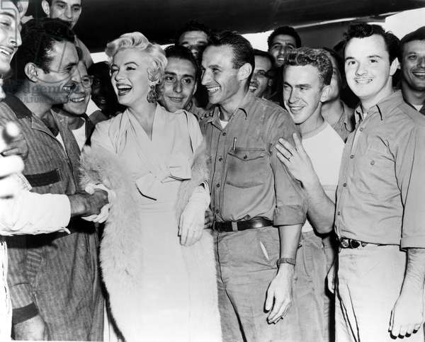 Marilyn Monroe entertaining American troops in Korea