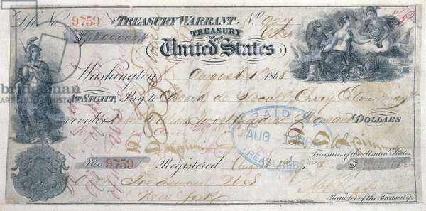 Check for the Purchase of Alaska. Cancelled check in the amount of .2 million, for the purchase of Alaska from Russia, issued August 1, 1868