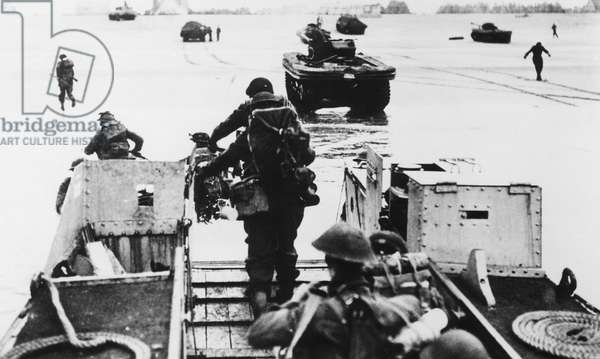 D-Day: British troops arrive at Normandy, June, 1944