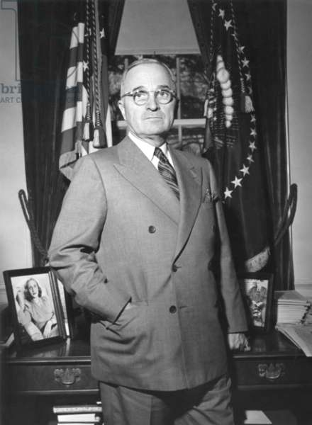 President Harry Truman at the White House office, April 5, 1946.