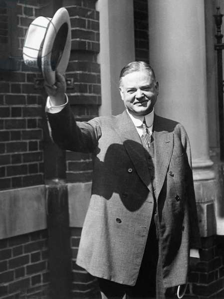 Future President Herbert Hoover (1874-1964), after his nomination for the Presidency, U.S. President 1929-1933, June, 1928