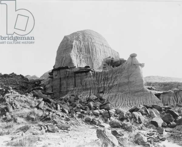 """Tea Kettle Butte, Pyramid Park, North Dakota, became the visual symbol the """"Teapot Dome"""" scandal involving the Warren Harding administration, centered on the secret leasing of federal oil reserves by the Secretary of the Interior, Albert B. Fall"""