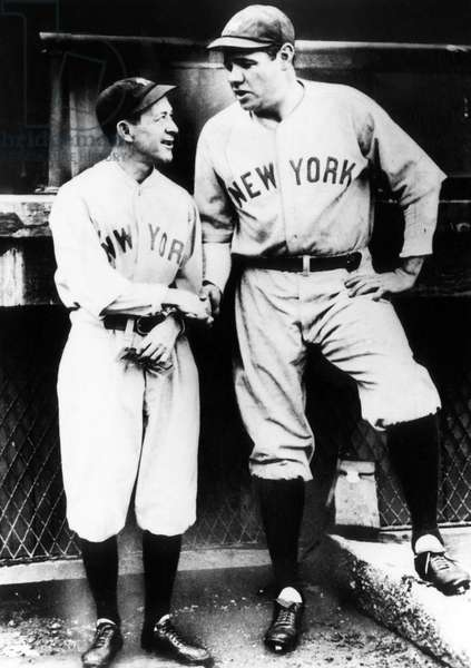 Miller Huggins, and Babe Ruth, c.early 1920s