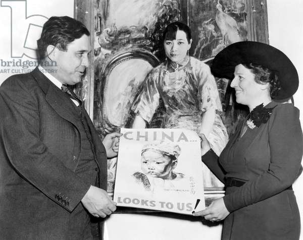 PEARL S. BUCK, with Wendell Willkie, Director of United China Relief in 1941