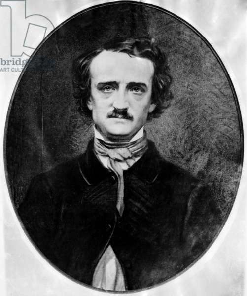 American poet and author Edgar Allan Poe photographed by Mathew B. Brady, c.1840s.