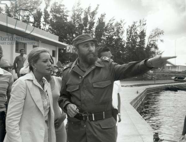 FIDEL CASTRO, being interviewed by BARBARA WALTERS, c. 1977