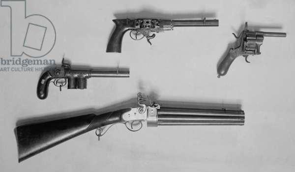 Historical Revolvers. Photo c. 1910
