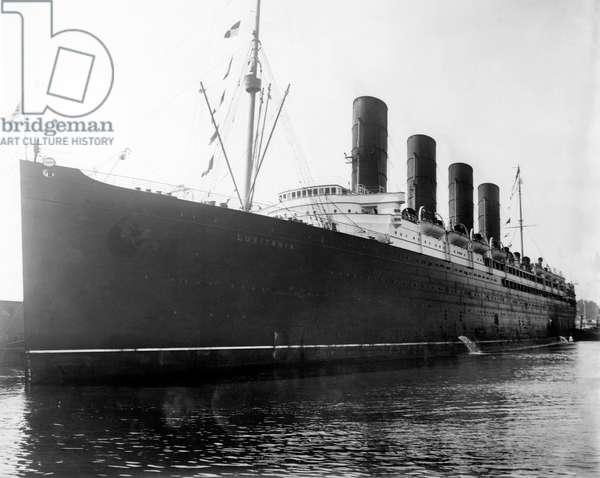 The RMS Lusitania, 1900's.