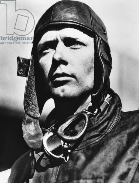 American pilot Charles Lindbergh, at Mitchell Field in Long Island, New York, 1927.