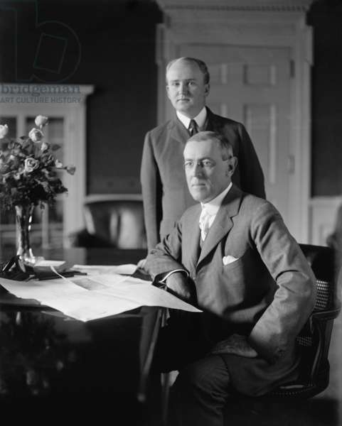 President Woodrow will with his private secretary Joseph Patrick Tumulty 1870-1954 . His functions were those of a contemporary White House Chief of Staff. President Woodrow will with his private secretary Joseph Patrick Tumulty 1870-1954