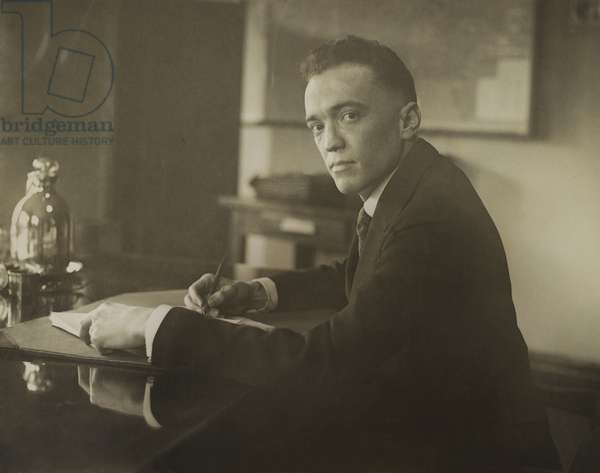 J. Edgar Hoover was hired to head the General Intelligence Unit within the Department of Justice. Attorney General A. Mitchell Palmer met the young Hoover in the Enemy Alien Bureau in 1918