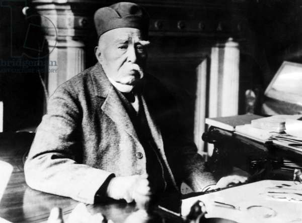 French Statesman Geroges Clemenceau`at his home in Paris.