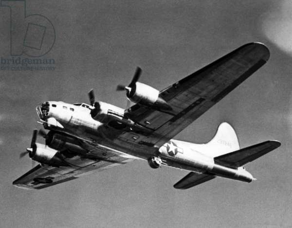 Boeing B-17 Flying Fortress, used against the Germans during World War II, March 1944