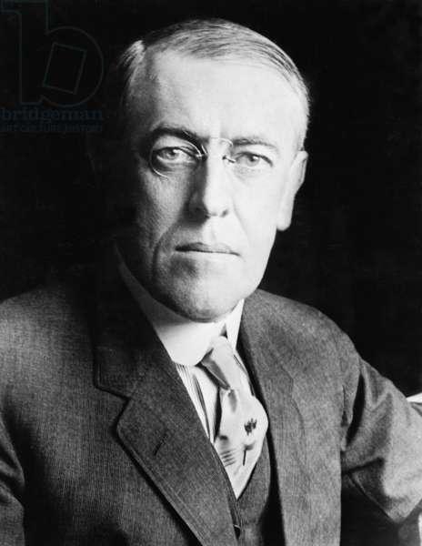 President Woodrow Wilson (1856-1924) in 1916 portrait