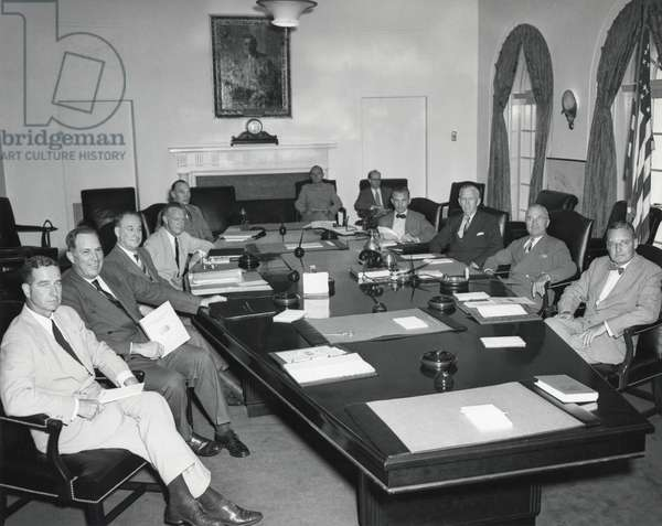 President Harry Truman with National Security Council, Aug. 19, 1948