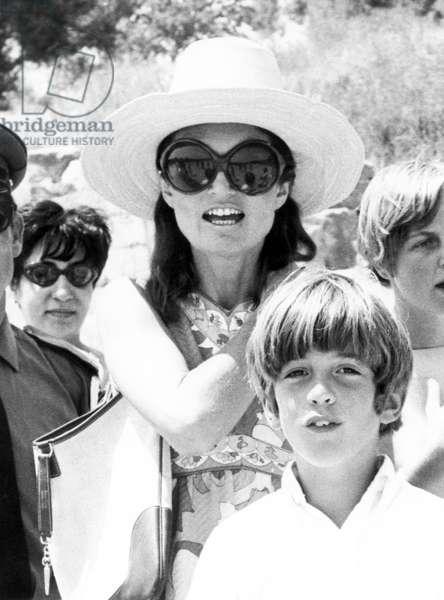 John F. Kennedy, Jr., Jacqueline Kennedy, 3/20/69, Greece