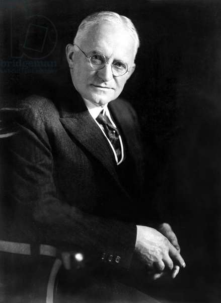 George Eastman, multi-millionaire foundr of the Eastman Kodak interests in Rochester, N.Y., shot himself to death on March 14th. Explaining in a note that he felt his work was done. 1930s.
