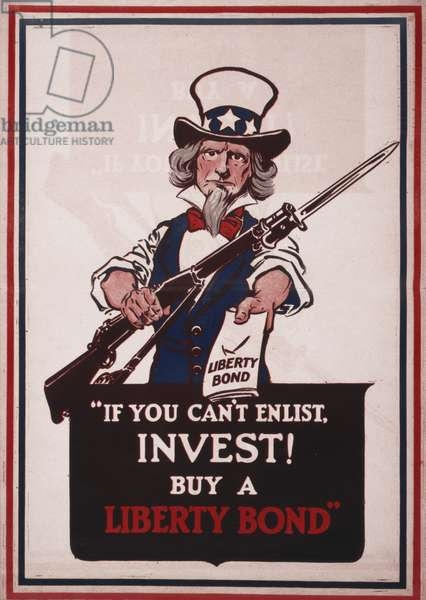 If you can't enlist, invest! Buy a Liberty bond,1917 (poster)