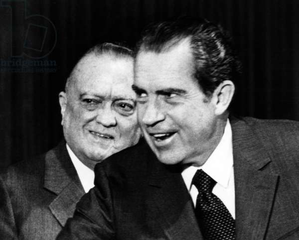 J. Edgar Hoover with President Richard M. Nixon, June 30, 1971.