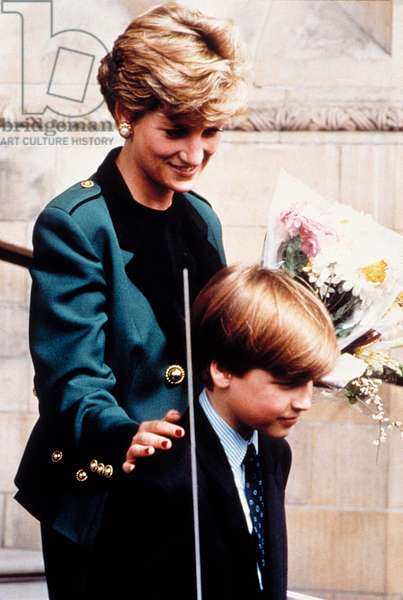 PRINCESS/LADY DIANA SPENCER, with her son Prince William, April 13, 1992
