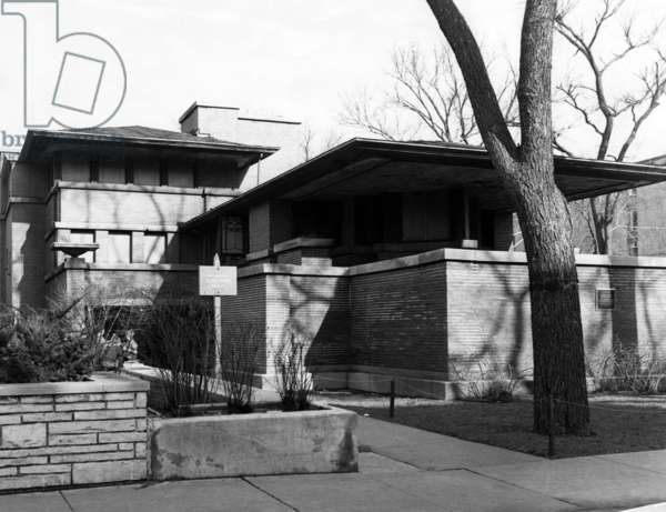 The Robie House, designed by Frank Lloyd Wright, Chicago, Illinois, c.1965