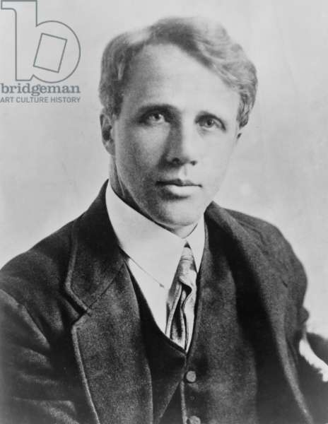 Robert Frost (1874-1963), American poet, c. 1915. In 1913 Frost published his first book of poems, A BOYS WILL, when he was almost 40 years old