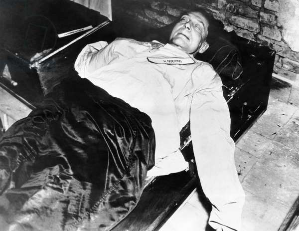 Commander-in-chief of the Luftwaffe Hermann Goering, after his suicide in prison, October 15, 1946