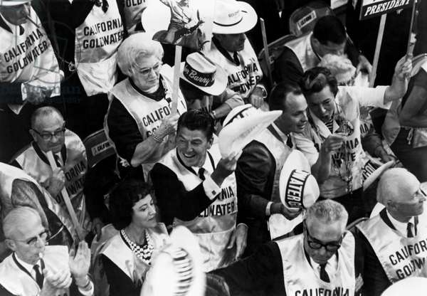 Ronald Reagan in the California delegation at the 1964 Republican convention in San Francisco