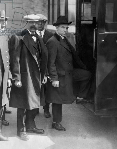Nicola Sacco, and Bartolomeo Vanzetti, Italian anarchists prior to their execution for murder and robbery in Boston Massachusetts, c.1927