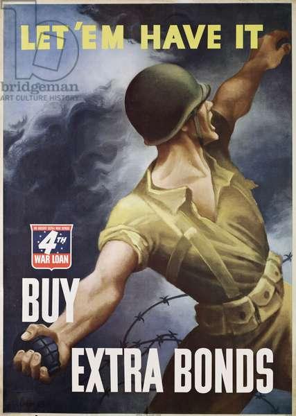 World War II War Bonds poster, 1943