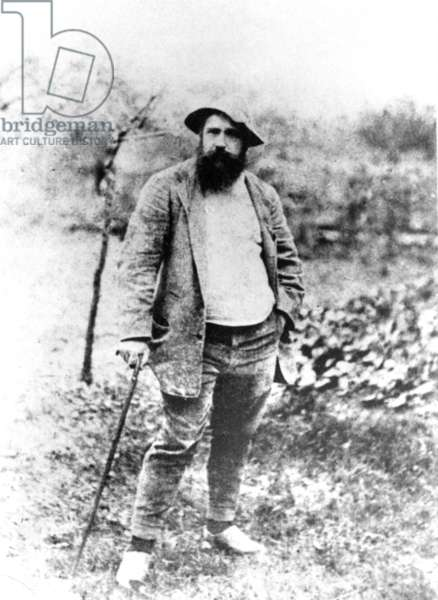 Claude Monet, at age 49, in his garden at Giverny, France 1890. Photo by Theodore Robinson