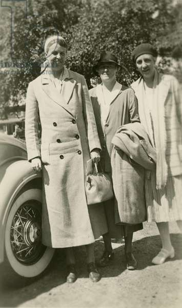 Eleanor Roosevelt with Nancy Cook and Marion Dickerman. Richmond, VA. June 23,1933. They were traveling to the Roosevelt summer home on Campobello Island