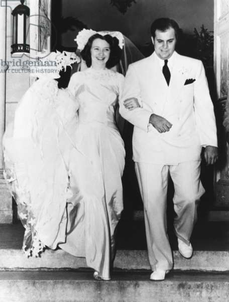 Al Capone's son takes a bride. Mr. and Mrs. Albert Francis Capone, emerging from St. Patrick's Church in Miami Beach after a quiet wedding. The former Diana Ruth Casey was Sonny's high school sweetheart. They had four daughters and led a straight and lawful life in Miami Beach. Dec. 30, 1941. -