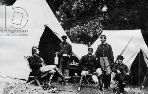American Civil War: A group of Union officers, c. 1861.