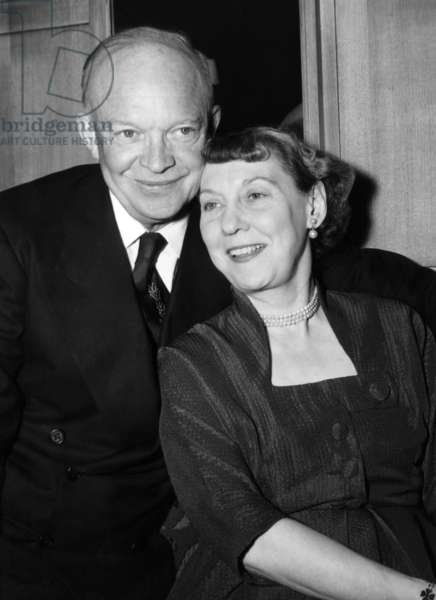 President Dwight D. Eisenhower and his wife, Mamie Eisenhower. c. 1952