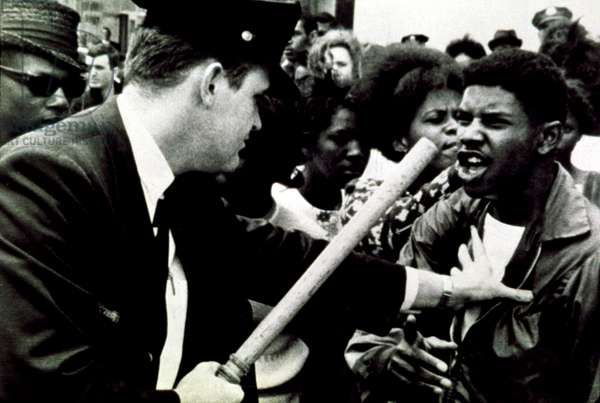 Civil Rights march confrontation with police in 1964