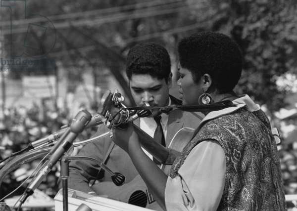 Singer Odetta at the 1963 Civil Rights March on Washington. Aug. 28, 1963