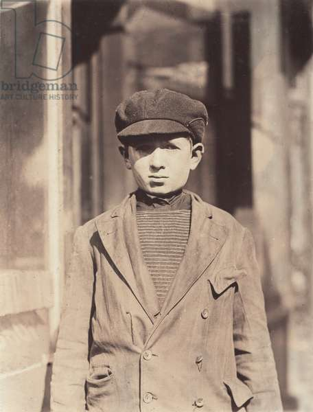 Child labor, coconut shaver, Kibbe's Factory, Isaac Futterman, 15 years, of 108 Sharon Street, has been working one year, earns .50, Springfield, Massachusetts, photograph by Lewis Wickes Hine, October, 1910