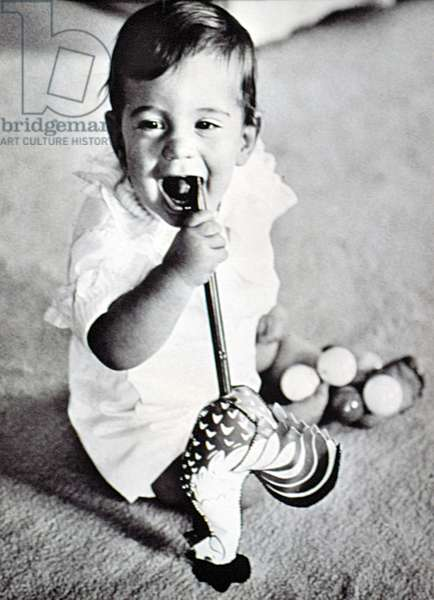 JOHN F. KENNEDY Jr., at age one, c. 1961
