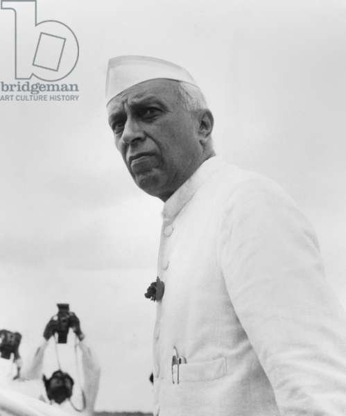 India's Prime Minister Jawaharlal Nehru, c. Jan. 1955. Actor Roshan Seth portrayed Nehru in GANDHI, the 1982 film produced and directed by Richard Attenborough
